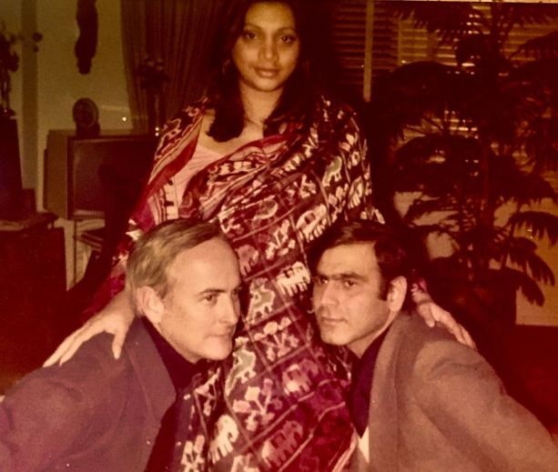Asha with Ismail Merchant and James Ivory | photo : Bina Ramani