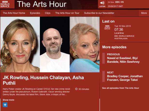 BBC World Service The Arts Hour